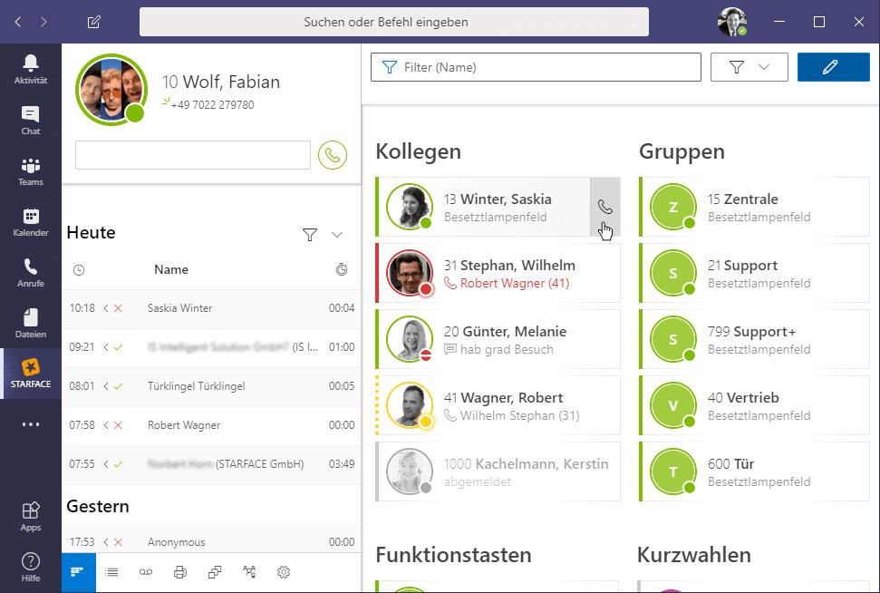 MS-Teams STARFACE Integration